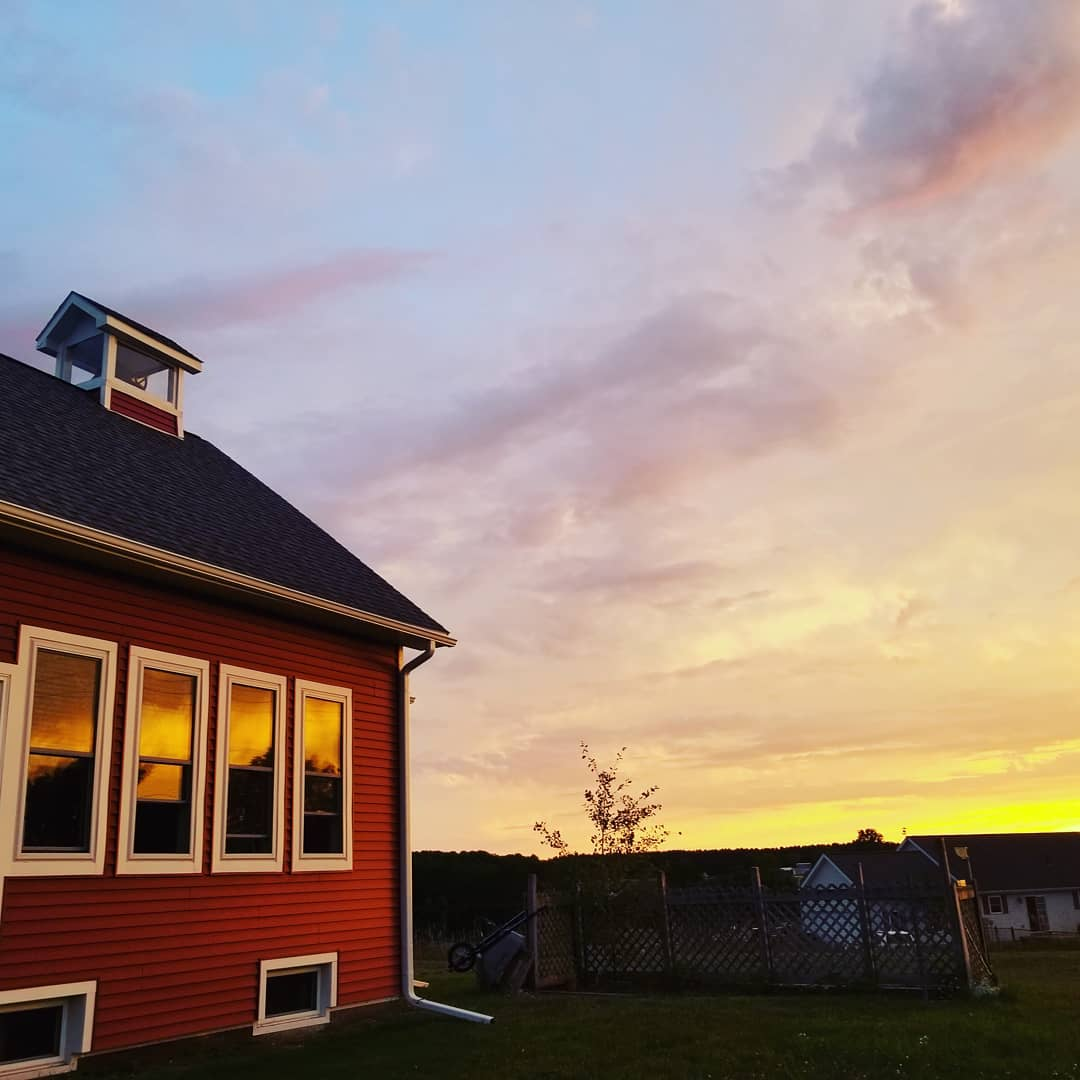 No filter sunsets + easy breezes +  smooth currents: we find respite in this #unschoolhouse on a hill. Naps in hammocks + along sandy Lake Michigan shores are good medicine.