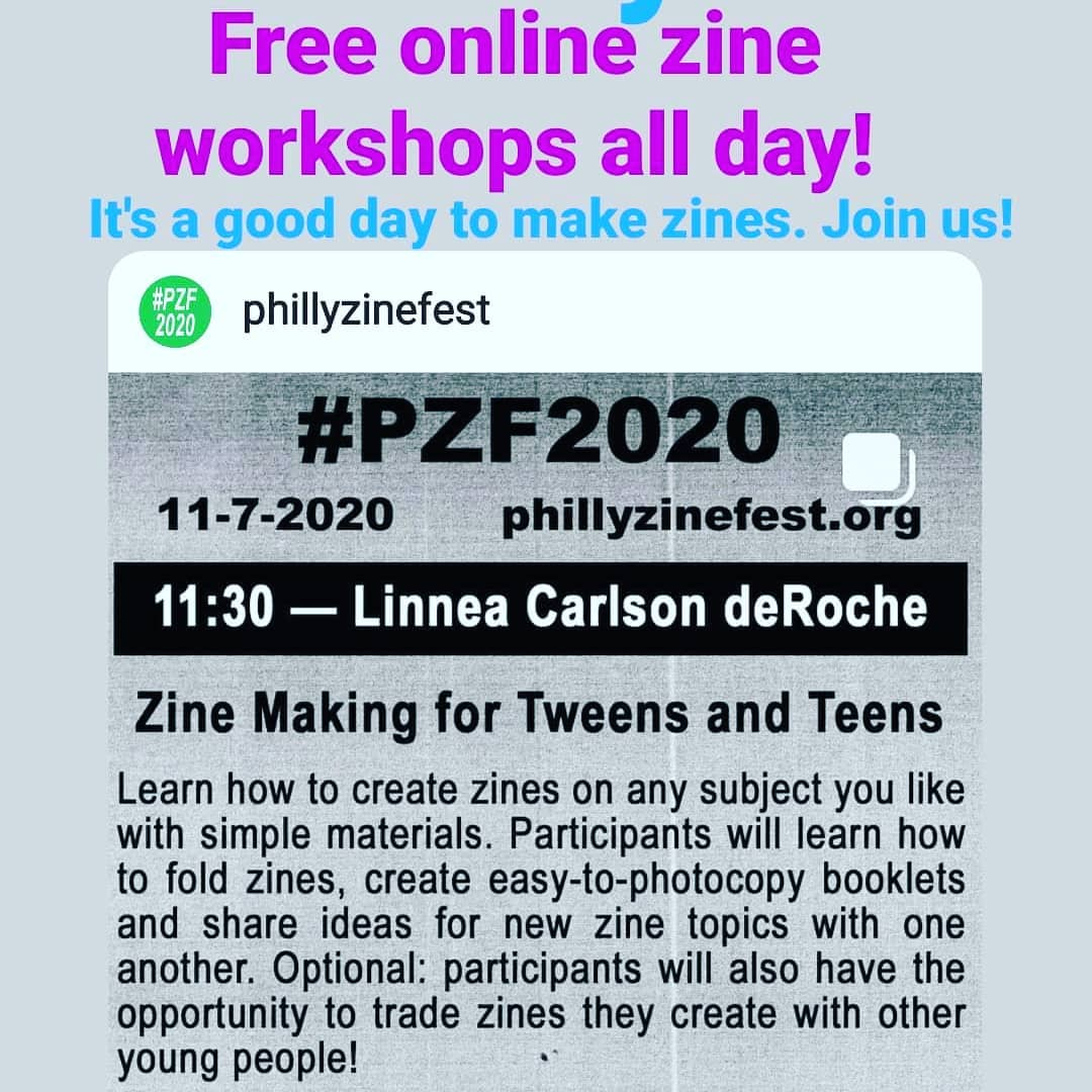 Today is the day! I'm leading a zine making workshop for teens (and really people of all ages because we could all use a little paper folding therapy today) Join me at 11:30!  and stick around for the rad workshops all day!